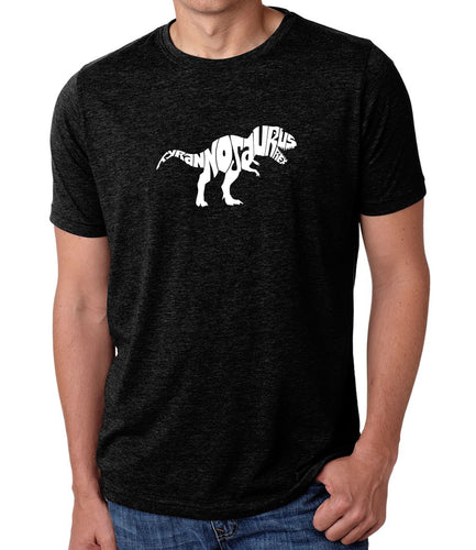 LA Pop Art Men's Premium Blend Word Art T-shirt - TYRANNOSAURUS REX