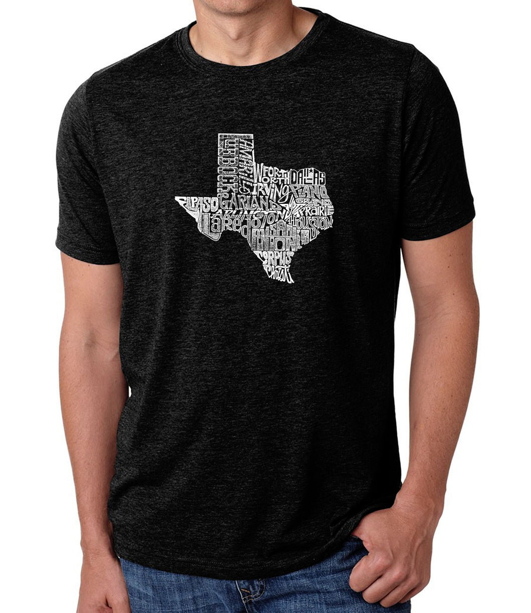 LA Pop Art Men's Premium Blend Word Art T-shirt - The Great State of Texas