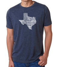 Load image into Gallery viewer, LA Pop Art Men's Premium Blend Word Art T-shirt - The Great State of Texas
