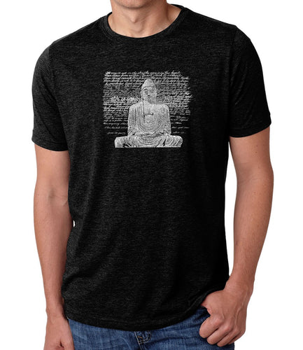 LA Pop Art Men's Premium Blend Word Art T-shirt - Zen Buddha