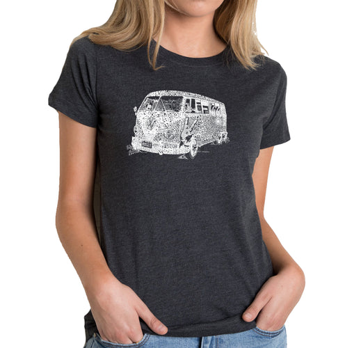 LA Pop Art Women's Premium Blend Word Art T-shirt - THE 70'S