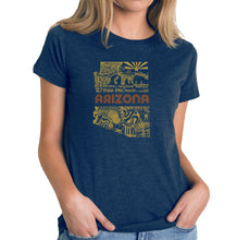 Load image into Gallery viewer, LA Pop Art Women's Premium Blend Word Art T-shirt - Az Pics