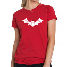 Load image into Gallery viewer, LA Pop Art Women's Premium Blend Word Art T-shirt - BAT - BITE ME