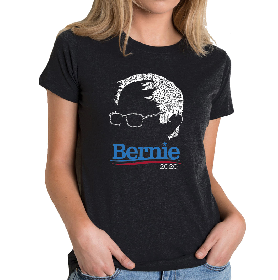 LA Pop Art Women's Premium Blend Word Art T-shirt - Bernie Sanders 2020