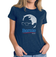 Load image into Gallery viewer, LA Pop Art Women's Premium Blend Word Art T-shirt - Bernie Sanders 2020