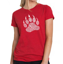 Load image into Gallery viewer, LA Pop Art Women's Premium Blend Word Art T-shirt - Types of Bears