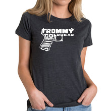 Load image into Gallery viewer, LA Pop Art Women's Premium Blend Word Art T-shirt - Out of My cold Dead Hands Gun