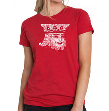 Load image into Gallery viewer, LA Pop Art Women's Premium Blend Word Art T-shirt - King of Spades