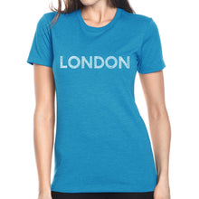 Load image into Gallery viewer, LA Pop Art Women's Premium Blend Word Art T-shirt - LONDON NEIGHBORHOODS
