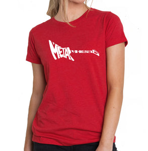 LA Pop Art Women's Premium Blend Word Art T-shirt - Metal Head