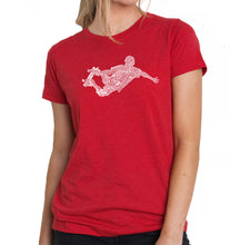 Load image into Gallery viewer, LA Pop Art Women's Premium Blend Word Art T-shirt - POPULAR SKATING MOVES & TRICKS