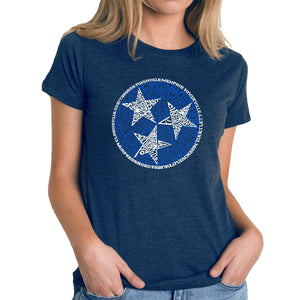 LA Pop Art Women's Premium Blend Word Art T-shirt - Tennessee Tristar