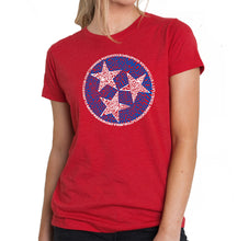 Load image into Gallery viewer, LA Pop Art Women's Premium Blend Word Art T-shirt - Tennessee Tristar
