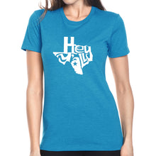 Load image into Gallery viewer, LA Pop Art Women's Premium Blend Word Art T-shirt - Hey Yall