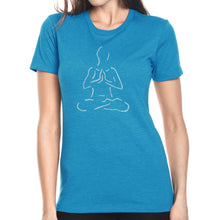 Load image into Gallery viewer, LA Pop Art Women's Premium Blend Word Art T-shirt - POPULAR YOGA POSES