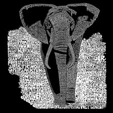 Load image into Gallery viewer, LA Pop Art Men's Word Art Long Sleeve T-shirt - ELEPHANT