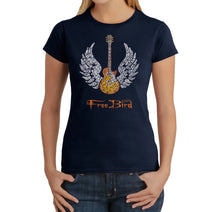Load image into Gallery viewer, LA Pop Art Women's Word Art T-Shirt - LYRICS TO FREE BIRD