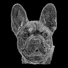 Load image into Gallery viewer, LA Pop Art Men's Word Art Hooded Sweatshirt - French Bulldog