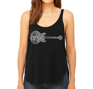 LA Pop Art  Women's Premium Word Art Flowy Tank Top - Blues Legends