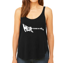 Load image into Gallery viewer, LA Pop Art Women's Word Art Flowy Tank - Metal Head
