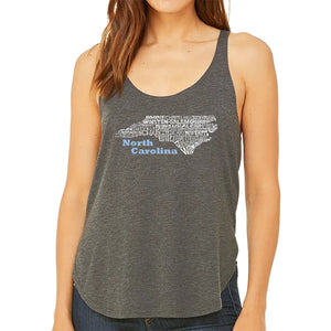 LA Pop Art Women's Word Art Flowy Tank - North Carolina