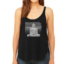 Load image into Gallery viewer, LA Pop Art Women's Word Art Flowy Tank - Zen Buddha