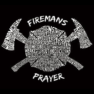 LA Pop Art Women's Dolman Word Art Shirt - FIREMAN'S PRAYER