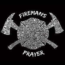 Load image into Gallery viewer, LA Pop Art Men's Word Art Hooded Sweatshirt - FIREMAN'S PRAYER