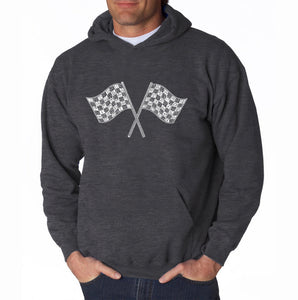 LA Pop Art Men's Word Art Hooded Sweatshirt - NASCAR NATIONAL SERIES RACE TRACKS
