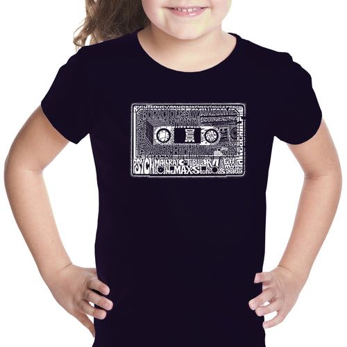 LA Pop Art Girl's Word Art T-shirt - The 80's