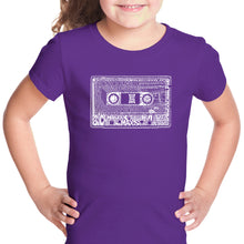 Load image into Gallery viewer, LA Pop Art Girl's Word Art T-shirt - The 80's