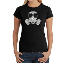 "Load image into Gallery viewer, LA Pop Art Women's Word Art T-Shirt - SLANG TERM FOR ""FART"""