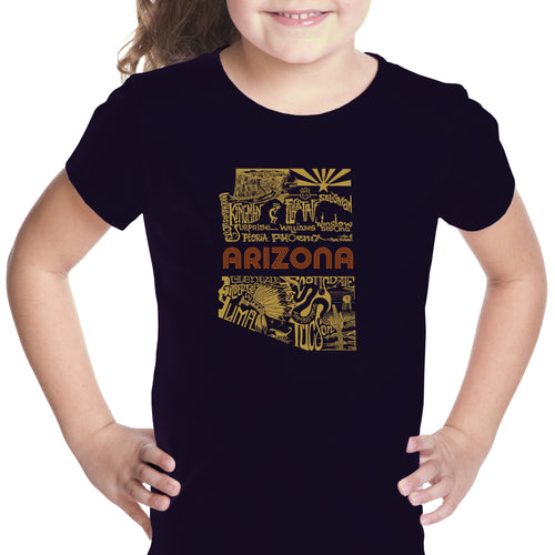 LA Pop Art Girl's Word Art T-shirt - Az Pics