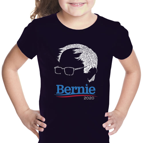 LA Pop Art Girl's Word Art T-shirt - Bernie Sanders 2020