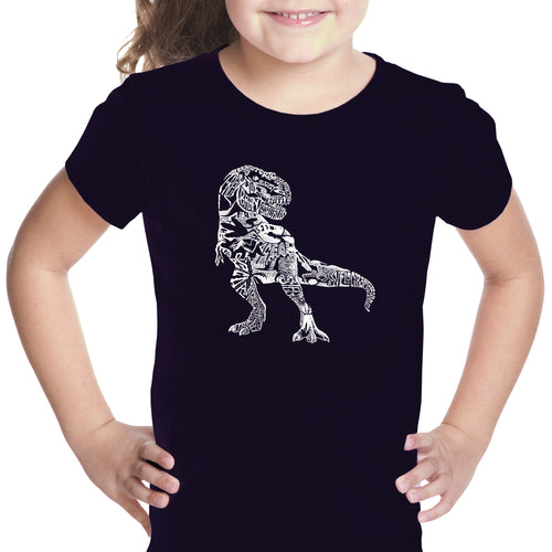 LA Pop Art Girl's Word Art T-shirt - Dino Pics