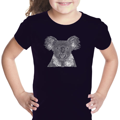 LA Pop Art Girl's Word Art T-shirt - Koala