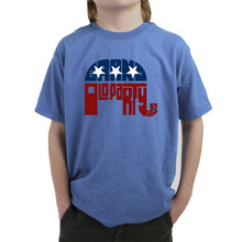 Load image into Gallery viewer, LA Pop Art Boy's Word Art T-shirt - REPUBLICAN - GRAND OLD PARTY