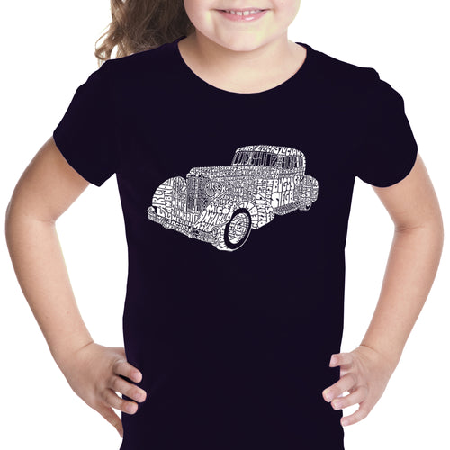 LA Pop Art Girl's Word Art T-shirt - Mobsters