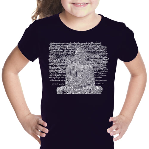 LA Pop Art Girl's Word Art T-shirt - Zen Buddha