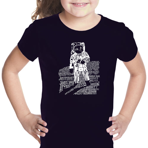 LA Pop Art Girl's Word Art T-shirt - ASTRONAUT