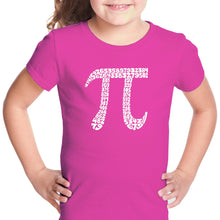 Load image into Gallery viewer, LA Pop Art Girl's Word Art T-shirt - THE FIRST 100 DIGITS OF PI