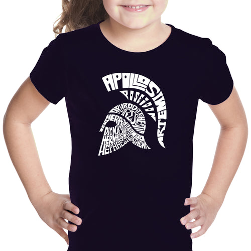 LA Pop Art Girl's Word Art T-shirt - SPARTAN