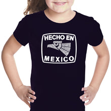 Load image into Gallery viewer, LA Pop Art Girl's Word Art T-shirt - HECHO EN MEXICO