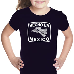 LA Pop Art Girl's Word Art T-shirt - HECHO EN MEXICO