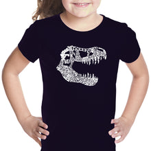 Load image into Gallery viewer, LA Pop Art Girl's Word Art T-shirt - TREX