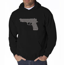 Load image into Gallery viewer, LA Pop Art Men's Word Art Hooded Sweatshirt - RIGHT TO BEAR ARMS