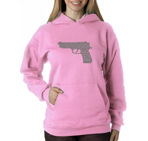 LA Pop Art Women's Word Art Hooded Sweatshirt -RIGHT TO BEAR ARMS