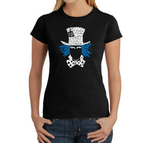 Load image into Gallery viewer, LA Pop Art Women's Word Art T-Shirt - The Mad Hatter