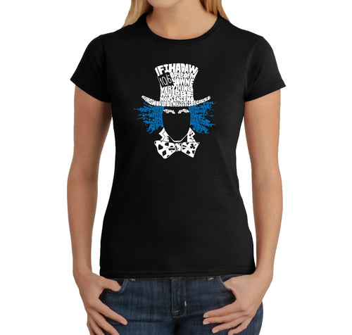 LA Pop Art Women's Word Art T-Shirt - The Mad Hatter