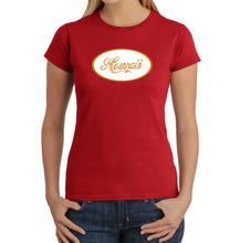 Load image into Gallery viewer, LA Pop Art Women's Word Art T-Shirt - HAWAIIAN ISLAND NAMES & IMAGERY